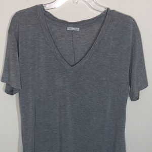 Zara Collection V-neck Gray T-shirt | Size 8